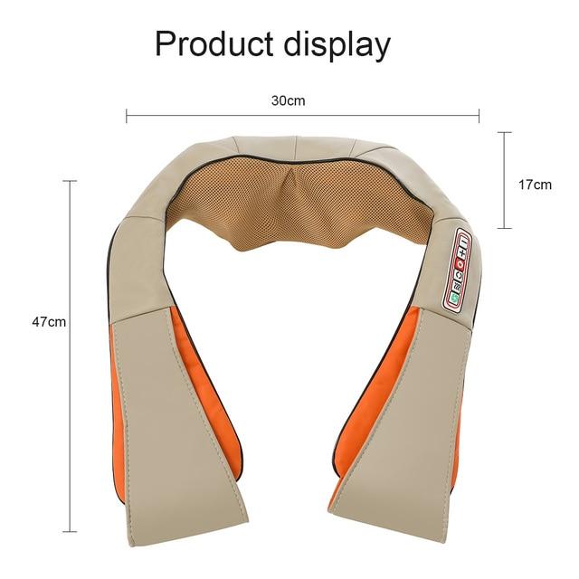 Electrical Massage Shiatsu Back Shoulder Body Neck Massager Multifunctional Shawl Infrared Heated Kneading Car/Home Massager 4