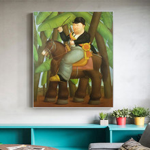 The President And First Lady by Fernando Botero Oil Paintings Print On Canvas Art Posters And Prints Funny Art Pictures Cuadros