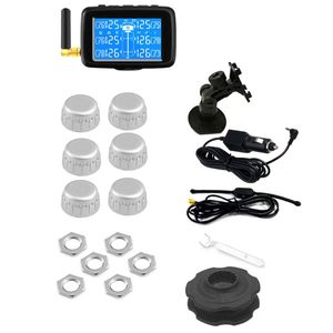 Image 5 - U901 Auto Truck TPMS Car Wireless Tire Pressure Monitoring System with 6 External Sensors Replaceable Battery LCD Display