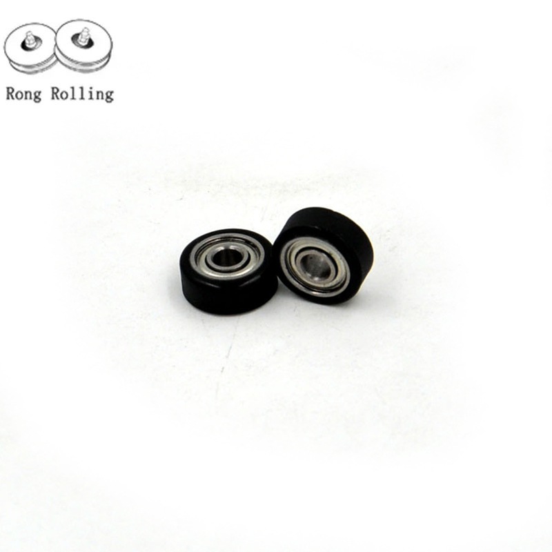 Metal Rubber Sealed Ball Bearing 2x6x3 mm 692-2RS Black 692RS 2*6*3 4 PCS