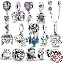 HOT SALE 100% Sterling Silver 925 Desny Mini Charms Fit Original Pandora Bracelet For Women Jewelry Gift
