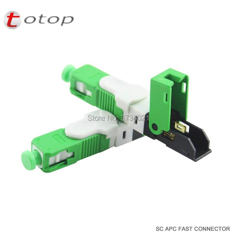 200PCS/Lot FTTH ESC250D SC APC Single-Mode Fiber Optic Quick Fast Field Assembly Connector, Free Shipping