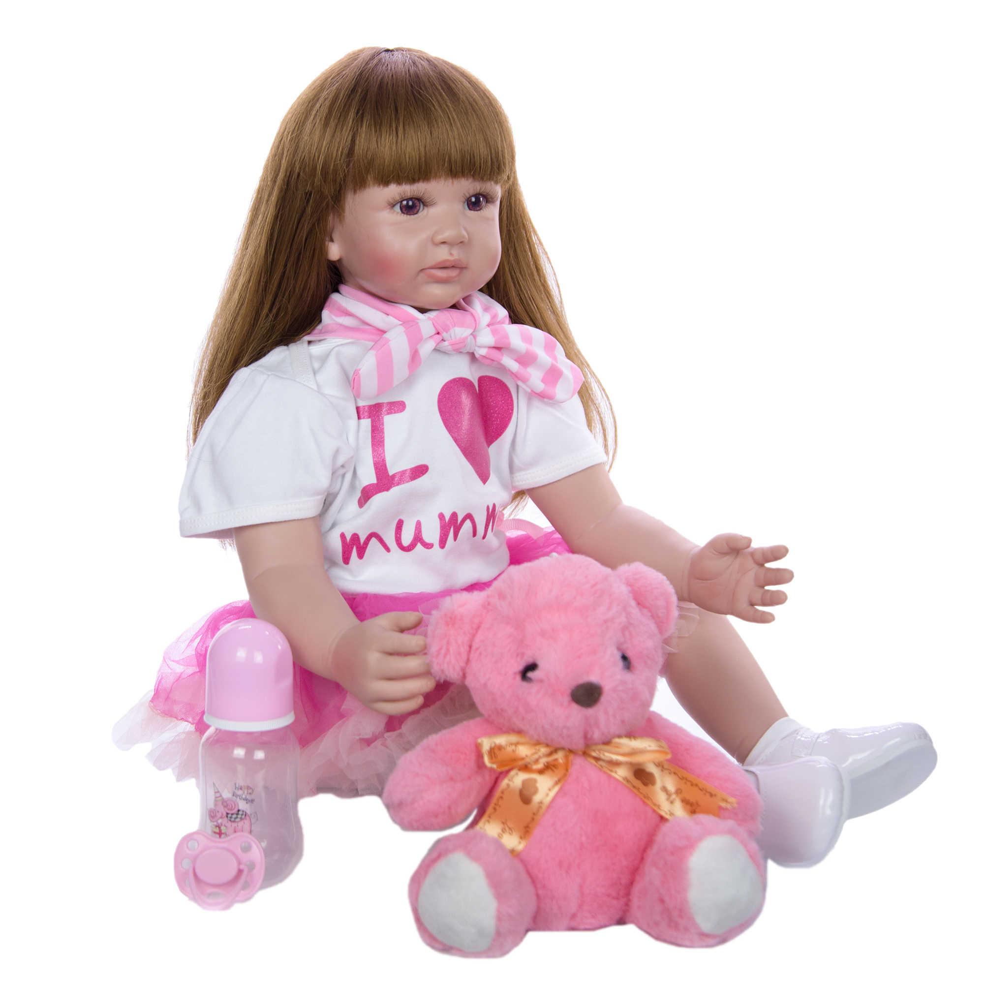 60 см Reborn Baby Doll Игрушки для девочек Мягкие силиконовые изысканные принцессы для малышей живые Младенцы Детский подарок на день рождения игровой домик игрушка