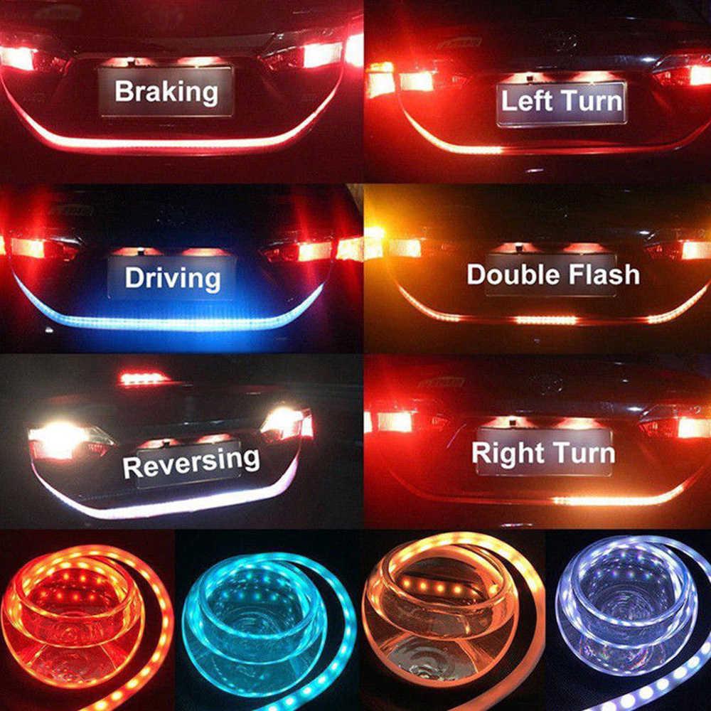 Promocja! 1.2m 12V samochód cztery kolory Flow Type 36 LED tylna klapa samochodu pasek wodoodporny hamulec jazdy włączony kierunkowskaz