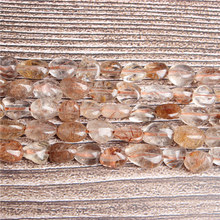 Lan Li Natural irregular copper hair crystal loose beads smooth loose interval bead jewelry DIY Stone Bracelet Necklace(China)