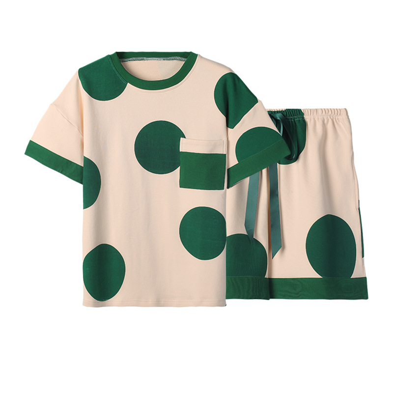 QWEEK Cotton Pyjama Femme Woman Cute Pajamas Kawaii Print Lounge Wear Loose Summer Home Clothes Pijama Mujer Sleepwear Casual