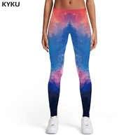 KYKU galaxy Леггинсы женские красочные спортивные граффити 3d печать пространство женские Harajuku эластичные женские s Леггинсы Брюки повседневные