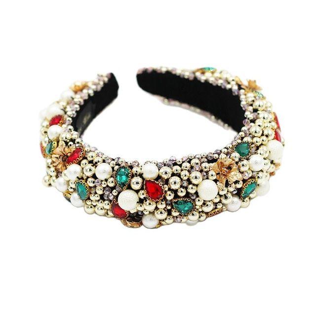 Heavy Crystal Color Shiny Diamond Headband  6