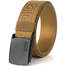 Wild fashion sports outdoor canvas belt belt male young stud