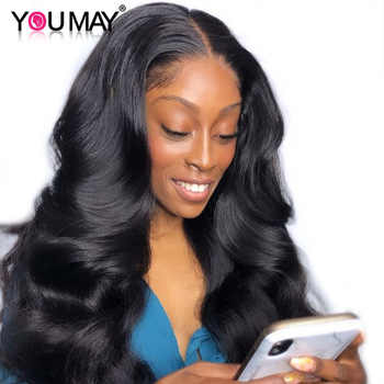 13x6 Lace Front Wigs Pre Plucked 150% Denstiy Brazilian Body Wave Transparent Lace Front Human Hair Wigs For Women You May Remy - DISCOUNT ITEM  40% OFF All Category