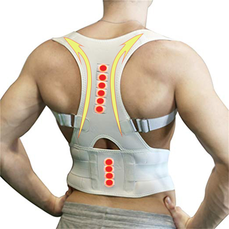 Magnetic Posture Corrector For Men Women Neoprene Back Support Belt Brace Back Straightener Corset Shoulder Spine Support Belt