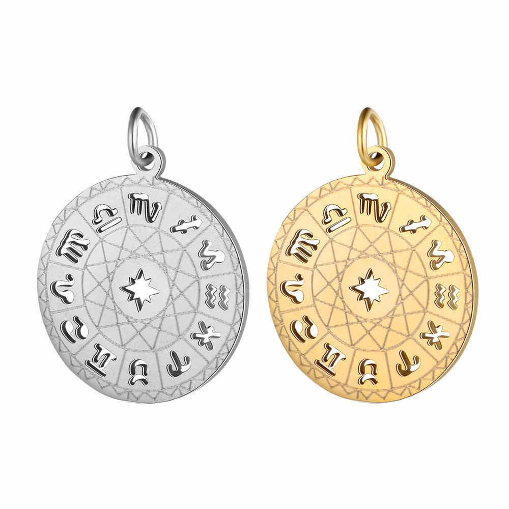 5 Pcs/lot Diy Palm Nanas Stainless Steel Pesona Liontin Wholesale Sun Peta Dunia Horoskop Perhiasan Gelang Konektor Pesona