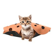 2019 High Quality Cat Combination Tunnel Mat Stitching Folding Cat Play Channel Roll Toy 2Pcs Support Wholesale Dropshipping(China)
