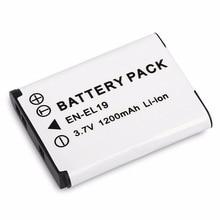 цена на 3.7V 1200MAH Rechargeable Li-ion Battery Digital Camera Replacement Battery Pack Suitable For Nikon EN-EL19 Camera