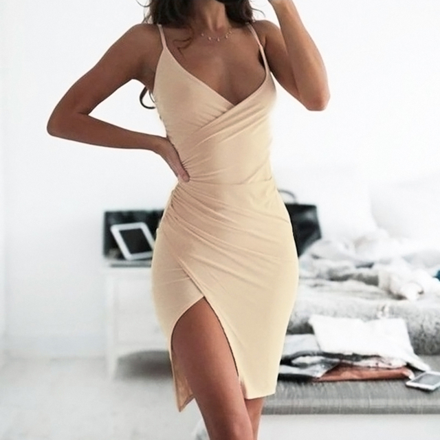 Sexy & Club Style Women Strap Strapless Summer Mini Dress Solid Color Soft Knitting Large Size Woman Clothes 1