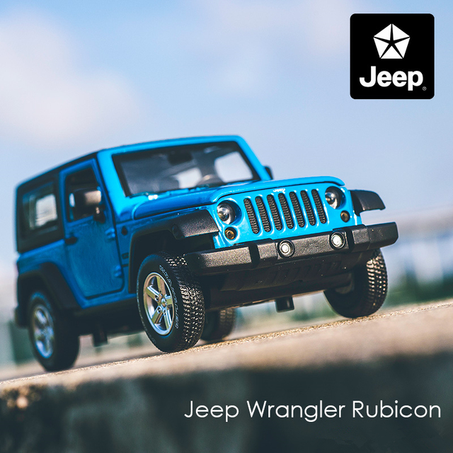 1:32 Jeep Wrangler Rubicon Alloy Car Model Diecasts Metal Toy Off-road Vehicles Model Collection High Simulation Childrens Gift 2