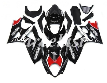 New ABS Motorcycle Full Fairings Kit Fit For SUZUKI GSX-R1000 GSXR1000 2007 2008 07 08 K7 body set Red Black