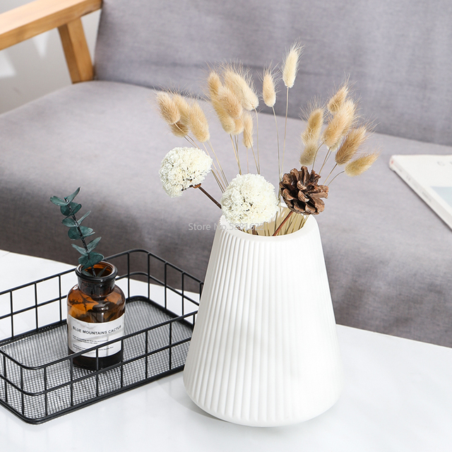 Anti-ceramic Vase 13x20cm  European Home Decorations Plastic Vase Shatter-resistant Wedding Dried Flowers Real Flowers 5