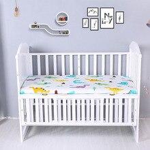 120x60 см Комплект постельного белья для детской кроватки, простыни для матраса, детские постельные принадлежности, покрывало для кровати из хлопка с мультяшным принтом