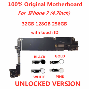 SamuelT Original Motherboard For iphone 7  unlocked Mainboard With Touch ID/NO Touch ID logic compact icloud remove