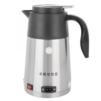 Portable Truck Car Electric Kettle 1200ml 24V In-Car Travel Trip Coffee Tea Heated Mug Hot Wate Heating Cup dmwd 750ml car heating cup auto 12v 24v stainless steel electric kettle travel heated coffee hot water boiling thermal heater