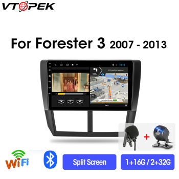 Vtopek 9 4G+WiFi Android Car Radio Multimedia Video Player Navigation GPS For Subaru Forester 3 SH 2007-2013 Head Unit 2din DSP image