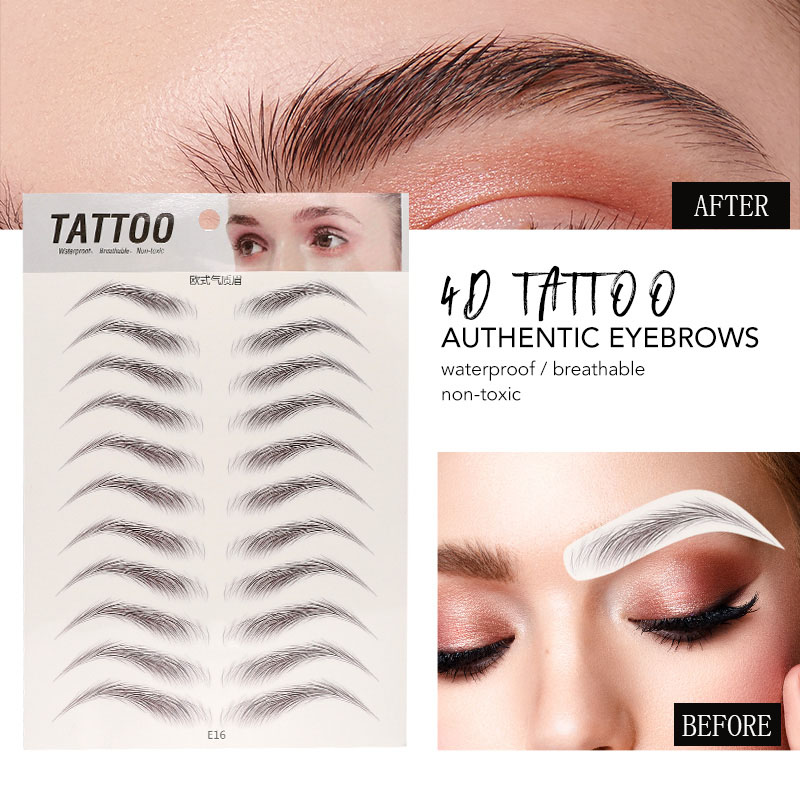 O.TWO.O 4D Eyebrows Sticker Water Transfer Hair-like Eye Brow Tattoo Stickers Long Lasting False Eyebrow Enhancers