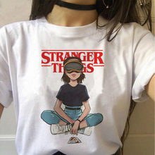 Stranger Things Season 3 T Shirt Women Upside Down Tshirt Eleven Female Graphic Grunge T-shirt Femme Tee Shirts Funny Clothing(China)