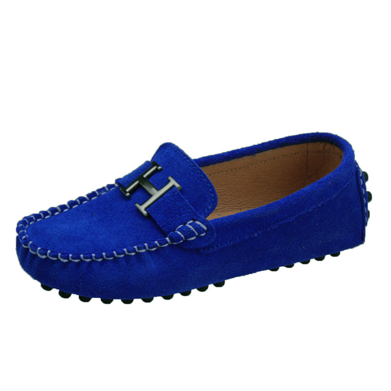 Handmade Slip On Leather Shoes For Kids 2019 New Suede Children's Sneakers Boys Loafers Autumn Flats With Plus Size 26-39