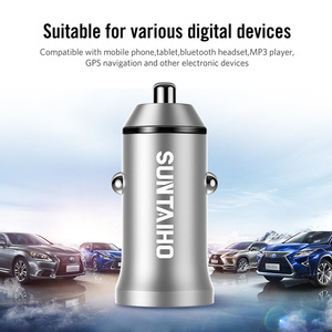 Image 5 - Suntaiho 5V 4.8A Mini USB Car Charger For iPhone iPad Samsung Mobile Phone GPS Fast Charger Car USB Charger Adapter Car Charger