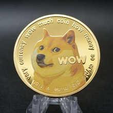 X21 ouro dogecoin moedas comemorativas colecionadores banhado a ouro doge moeda novo