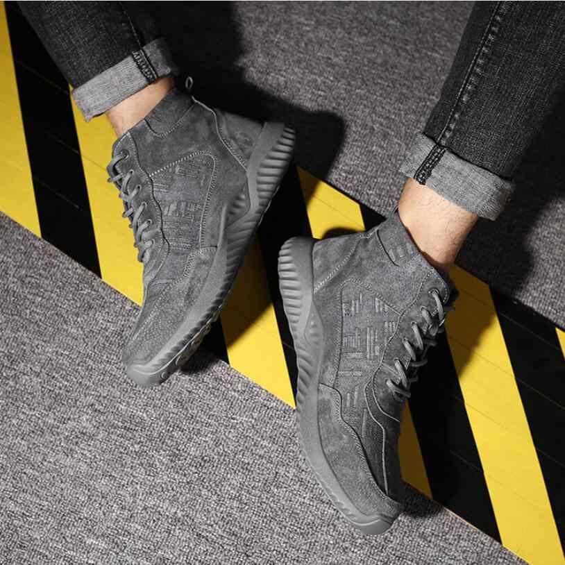 C777 çelik ayak emniyet iş ayakkabısı erkekler 2019 moda nefes kayma Anti-smashing anti-piercing yıkılmaz çalışması Martin çizme