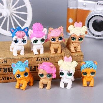 dolls Lol Dolls Around The Anime, 8 Dog-handed Office Dolls, Micro-landscape Cake Decoration Dolls Children's Toys