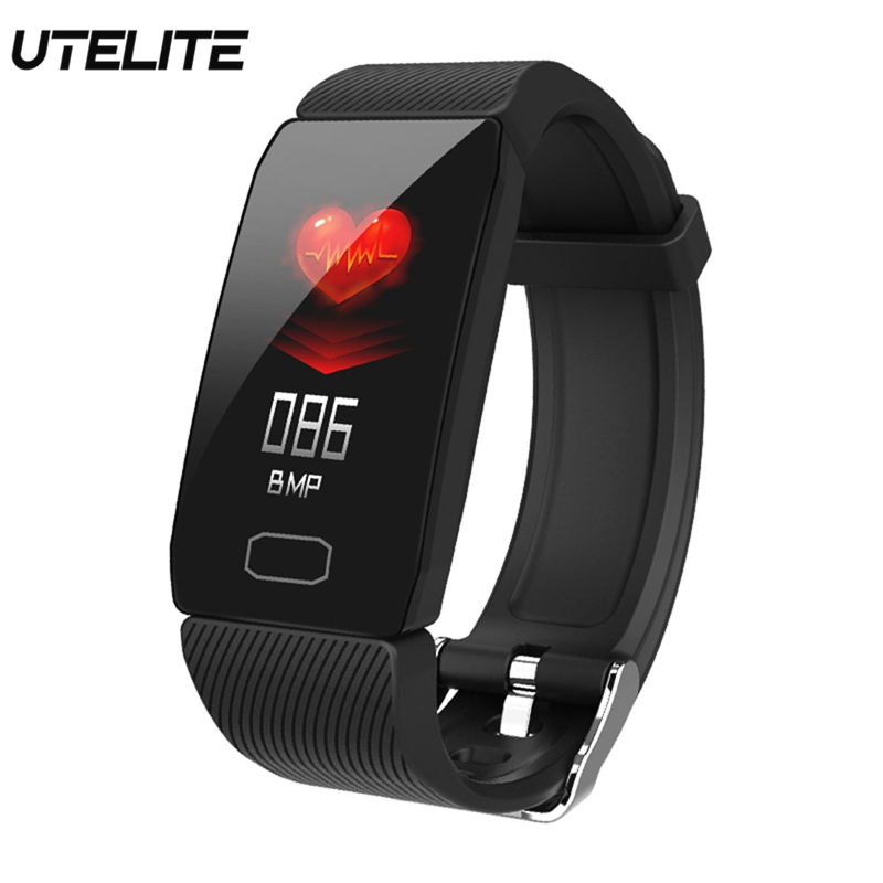 UTELITE Q1 Smart Watch Band 1.14 inch IPS IP67 Waterproof Heart Rate Blood Pressure Monitor Band for Apple Xiaomi Huawei phone