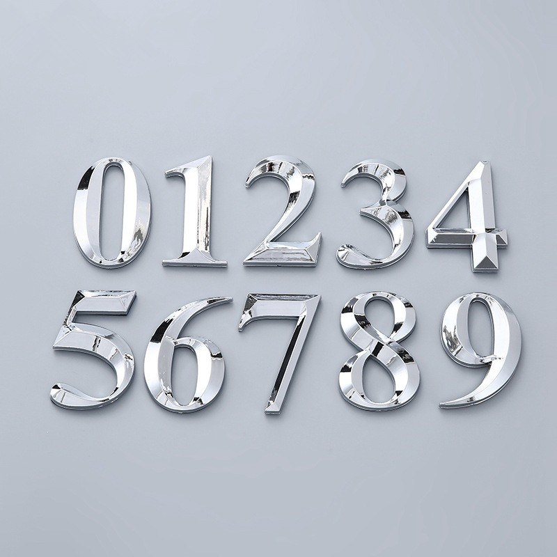 3D Large size Self Adhesive Door Number Sign Number Digit Apartment Hotel Office Door Address Street Number Stickers Plate Sign(China)