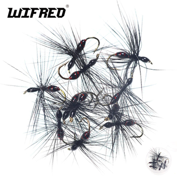 Wifreo 8pcs Insects Flies Fly Fishing Lures Epoxy Ant Fly Trout Fishing Flies Artificial Insects Lure