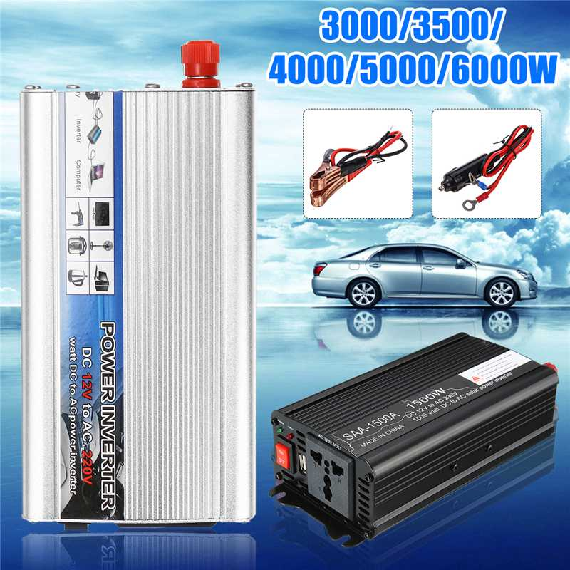 solar <font><b>Inverter</b></font> 12V 6000W/5000W/4000W/3500W/3000W DC12V to AC220V Converter Modified Sine Wave Power <font><b>Inverter</b></font> Voltage Transformer image
