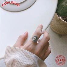 Pofunuo 925 Стерлинговое Серебро винтажное женское кольцо с