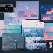 Yoofun 60 arkuszy kreatywne kartki samoprzylepne ciepłe słońce obietnica seria kreatywne niebo las notatniki dekoracje szkolne materiały biurowe