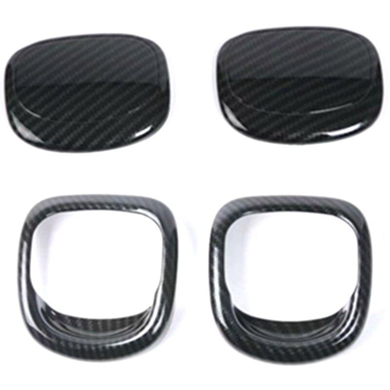 Seat Release Handle Cover Trims For BMW MINI Cooper S 3DR F56 F57 Car Interior Mouldings Parts Carbon Fiber Handle Trim
