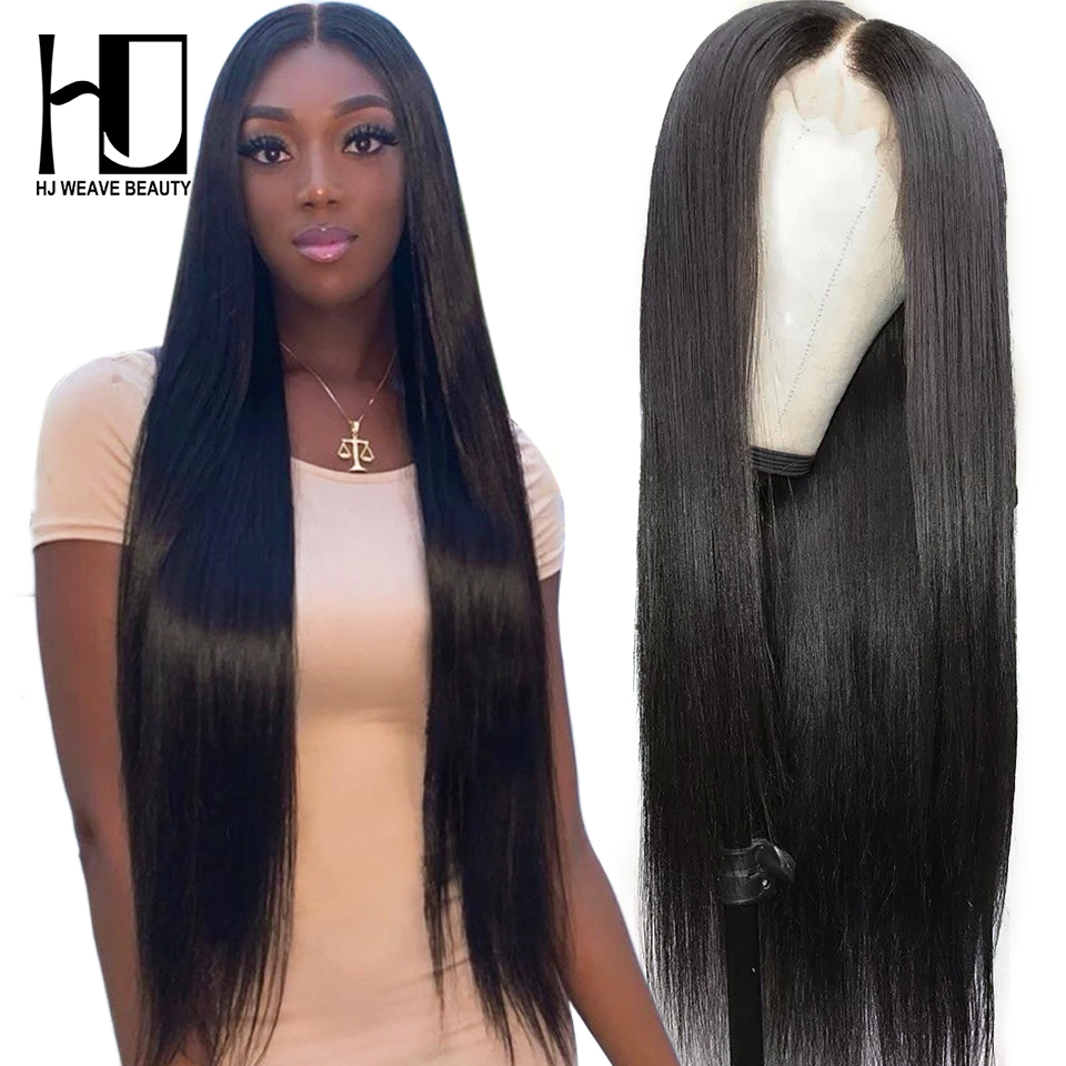 Hj Weave Beauty 13*6 Lace Front Human Hair Wigs 8-28 Inch 360 Lace Frontal Wig 180% Density Remy Straight Human Hair Wigs