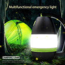 Multi Function Outdoor Camping Lantern Flashlight Led Usb Rechargeable 3 In1 Flashlight Table Desk Lamp Power Bank Output