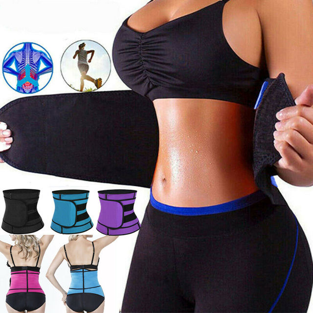 Women Men Fajas Sweat Body Shaper Waist Trainer Cincher Underbust Corset Belt Training Shapewear