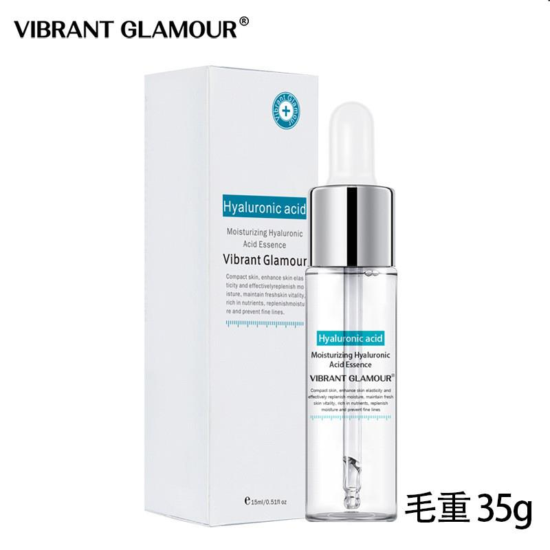 VIBRANT GLAMOUR Hyaluronic Acid Face Serum Moisturizing Essence  Shrink Pore Skin Care Repair Whitening Anti-Aging