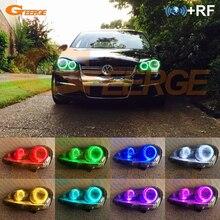 Dla VOLKSWAGEN VW golf 5 V mk5 2004 2009 doskonała RF zdalny Bluetooth aplikacji wielu kolorów RGB zestaw led oczy anioła