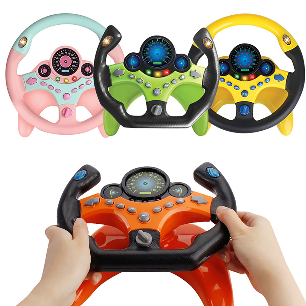 Electric Simulation Steering Wheel Toy With Light And Sound Educational Children Co Pilot Children'S Car Toy Vocal Toy Gift
