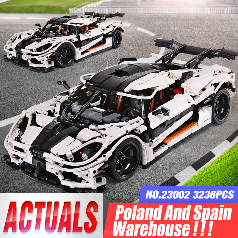 3236Pcs Technic Car Series <font><b>23002</b></font> The MOC-4789 Changing Racing Car Set Construction Toys Building Blocks Bricks Kids Cars Toys image