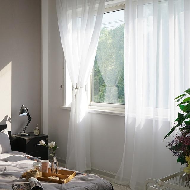 Белая занавеска - тюль LISM для гостинной, спальни, кухни  5