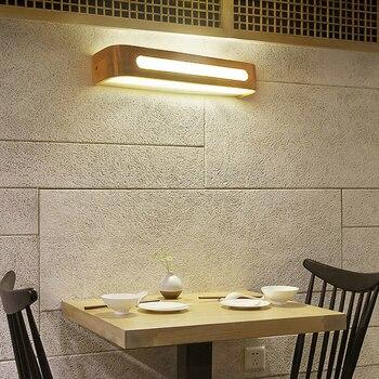 Moderne Japanse Stijl Eiken Houten Wandlamp - Led 220V 4