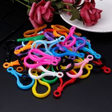 P15C 100pcs Plastic Colorful Lamp Shape Buckle Snap Hook Lobster Clasp DIY Needlework Luggage Sewing Handmade Bag Purse Toy Doll